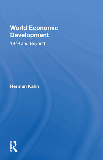 World Economic Development 1979 And Beyond book cover