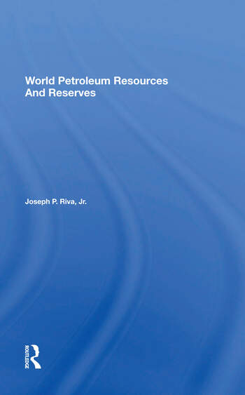 World Petroleum Resources And Reserves book cover
