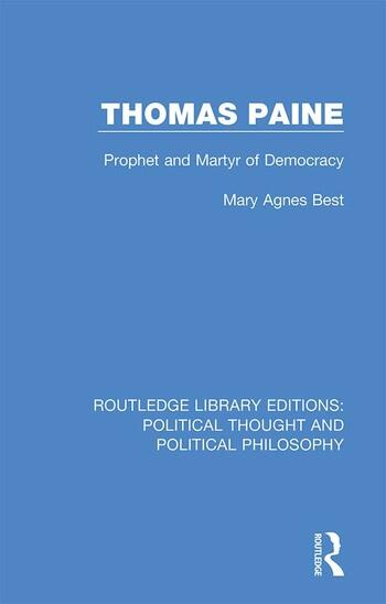Thomas Paine Prophet and Martyr of Democracy book cover