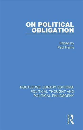 On Political Obligation book cover