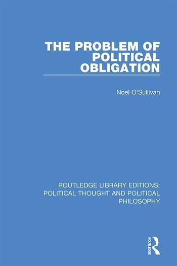 The Problem of Political Obligation book cover