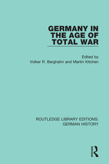 Germany in the Age of Total War book cover
