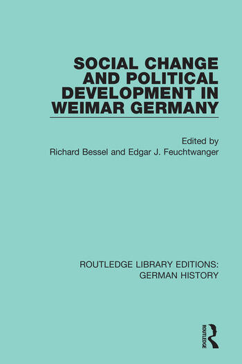 Social Change and Political Development in Weimar Germany book cover