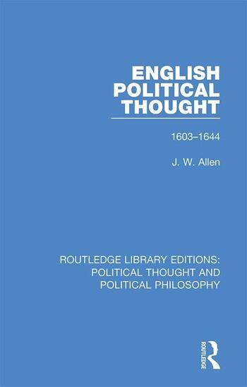 English Political Thought 1603-1644 book cover