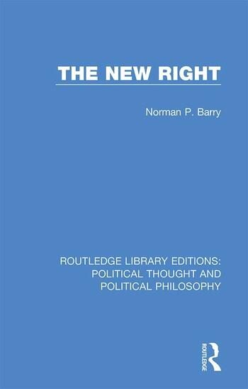 The New Right book cover