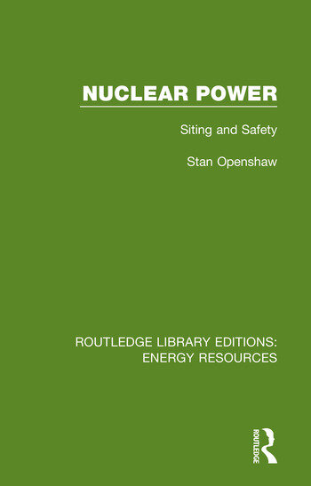 Nuclear Power Siting and Safety book cover