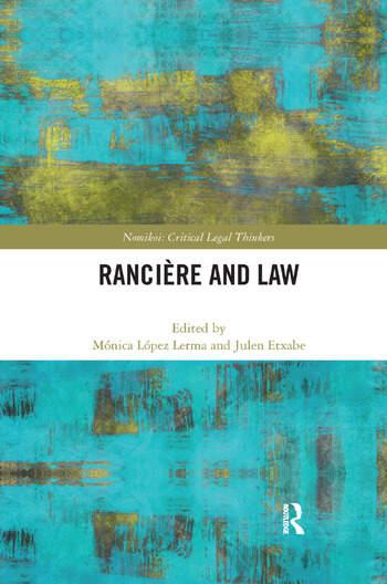 Ranciere and Law book cover