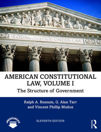 American Constitutional Law, Volume I The Structure of Government book cover