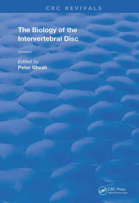 The Biology of the Intervertebral Disc book cover