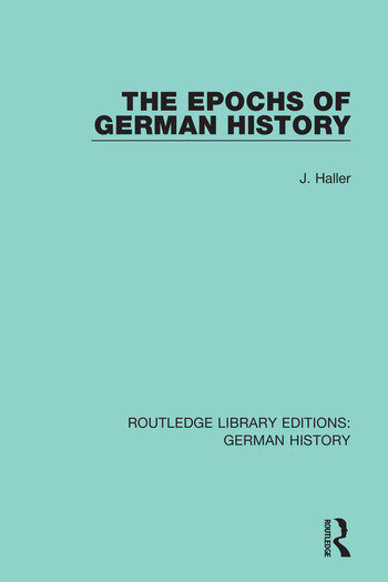The Epochs of German History book cover