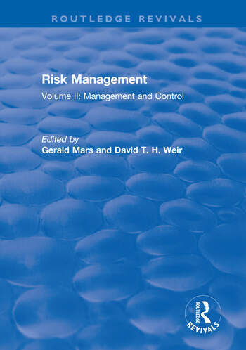 Risk Management Volume II: Management and Control book cover
