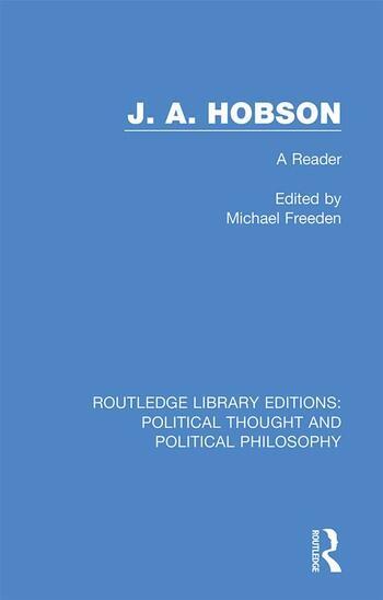J. A. Hobson A Reader book cover
