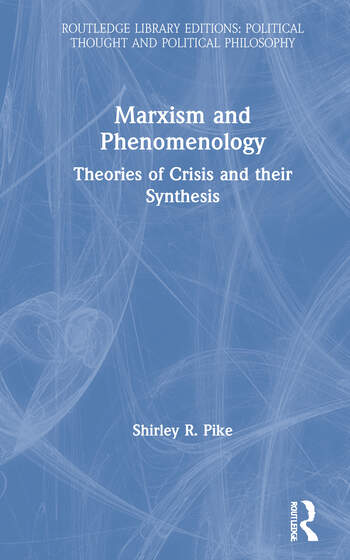 Marxism and Phenomenology book cover