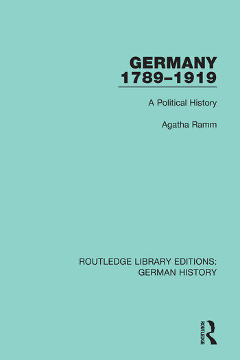 Germany 1789-1919 A Political History book cover