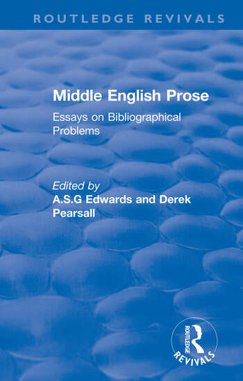 Middle English Prose Essays on Bibliographical Problems book cover