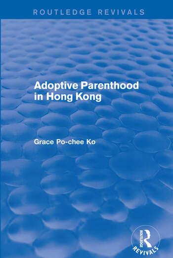 Adoptive Parenthood in Hong Kong book cover