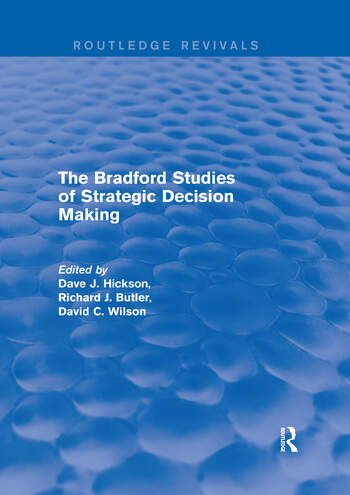 The Bradford Studies of Strategic Decision Making book cover