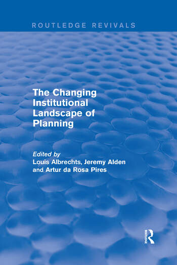 The Changing Institutional Landscape of Planning book cover