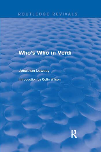 Who's Who in Verdi book cover