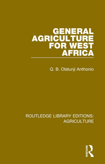 General Agriculture for West Africa book cover