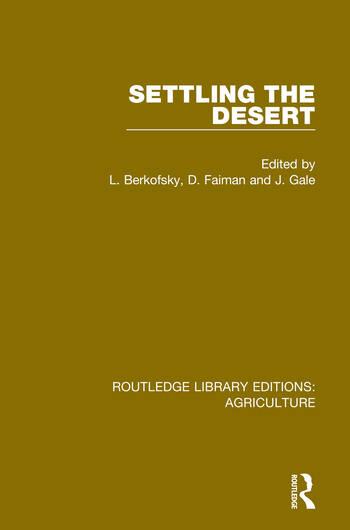 Settling the Desert book cover