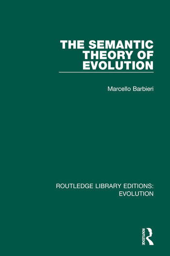 The Semantic Theory of Evolution book cover