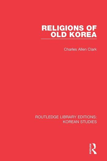 Religions of Old Korea book cover