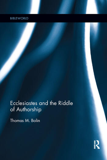 Ecclesiastes and the Riddle of Authorship book cover