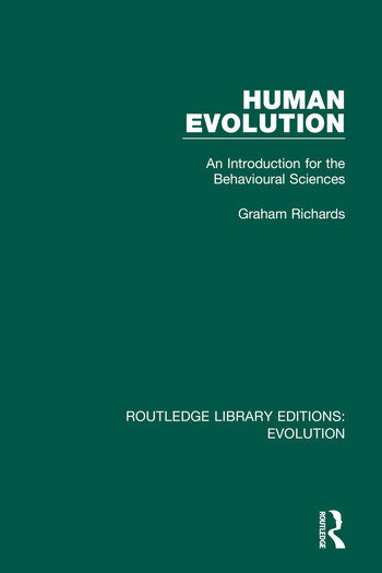 Human Evolution An Introduction for the Behavioural Sciences book cover
