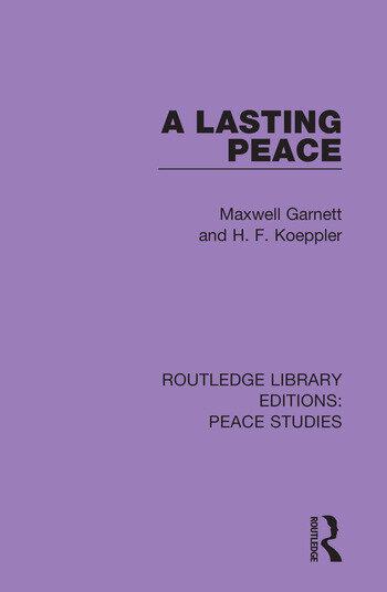 A Lasting Peace book cover