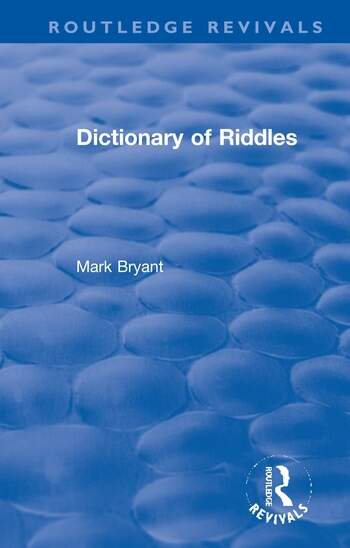 Dictionary of Riddles book cover
