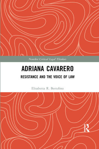 Adriana Cavarero Resistance and the Voice of Law book cover