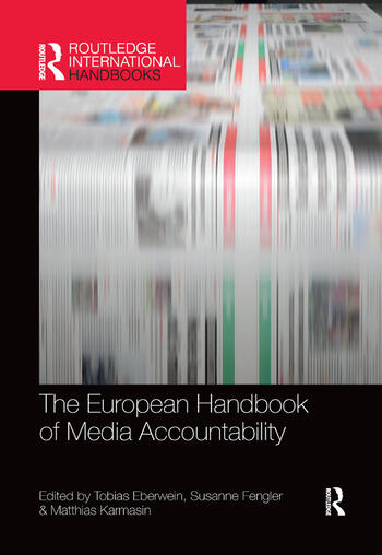 The European Handbook of Media Accountability book cover
