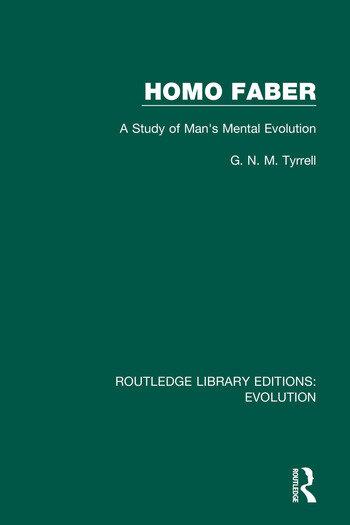 Homo Faber A Study of Man's Mental Evolution book cover