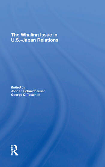 The Whaling Issue In U.s.-japan Relations book cover