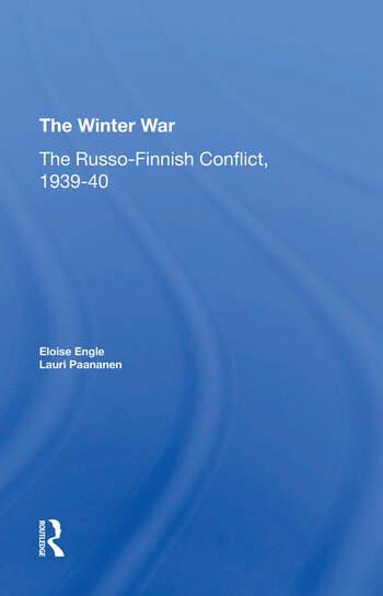 The Winter War The Russo-finnish Conflict, 1939-1940 book cover
