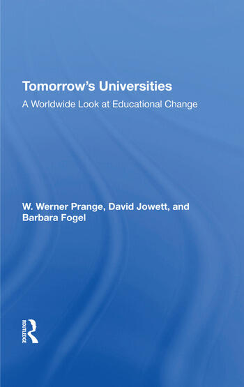 Tomorrow's Universities A Worldwide Look At Educational Change book cover