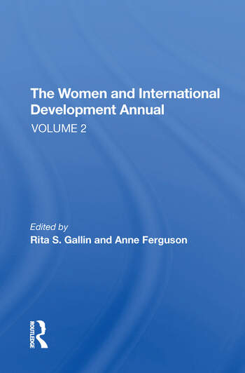 The Women And International Development Annual, Volume 2 book cover
