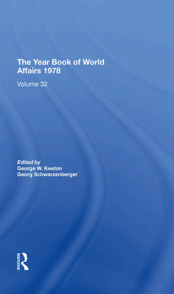 The Year Book Of World Affairs, 1978 book cover