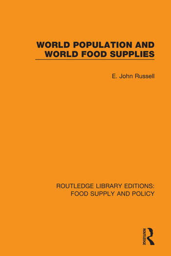 World Population and World Food Supplies book cover