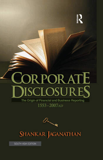 Corporate Disclosures The Origin of Financial and Business Reporting 1553 - 2007 AD book cover