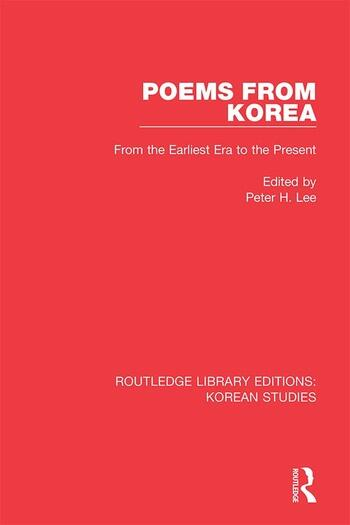 Poems from Korea From the Earliest Era to the Present book cover
