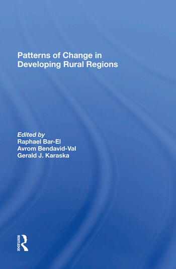 Patterns Of Change In Developing Rural Regions book cover