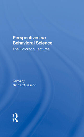 Perspectives On Behavioral Science The Colorado Lectures book cover