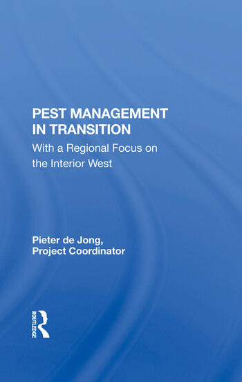 Pest Management In Transition With A Regional Focus On The Interior West book cover