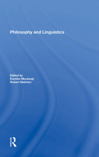 Philosophy And Linguistics book cover