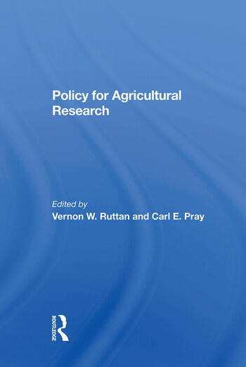 Policy For Agricultural Research book cover
