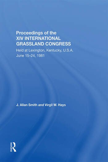 Proceedings Of The Xiv International Grassland Congress book cover