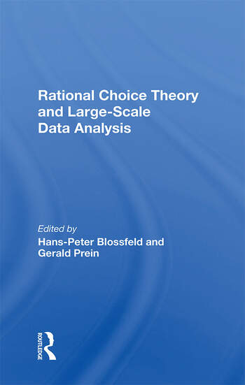 Rational Choice Theory And Largescale Data Analysis book cover
