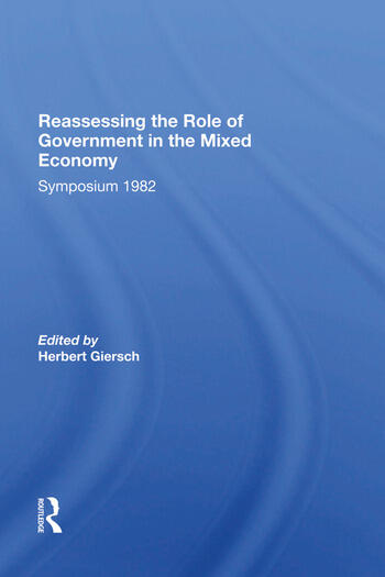 Reassessing/ Avail.hc.only! The Mixed Economy book cover